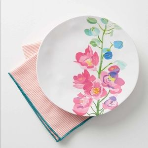 Anthropologie paint and petals melamine plate